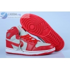 wholesale Womens Air Jordan 1 Red Grey White basketball shoes