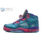 Womens Air Jordan 5 GS Teal Pink Purple