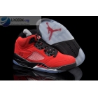 Air Jordan 5 Fire Red Mens Suede Sneakers