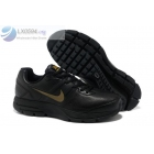 Nike Air Pegasus 29 Leather Black Gold Trainers