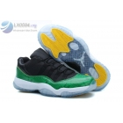 wholesale Air Jordan 11 Low SnakeSkin Black Green