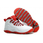 wholesale Air Jordan 10 White Red Womens Sneakers