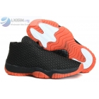 Air Jordan Future Black Orange Mens Sneakers