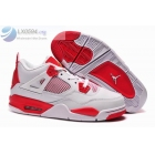 wholesale Womens Jordan 4 White Red Carmelo Anthony's Shoes