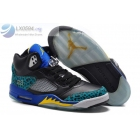 wholesale Air Jordan 5 Leopard Print Black Blue Yellow