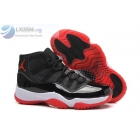 wholesale Air Jordan 11 GS Bred Womens Black White Red