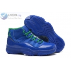 Air Jordan 11 GS Hornets Womens All Blue Green