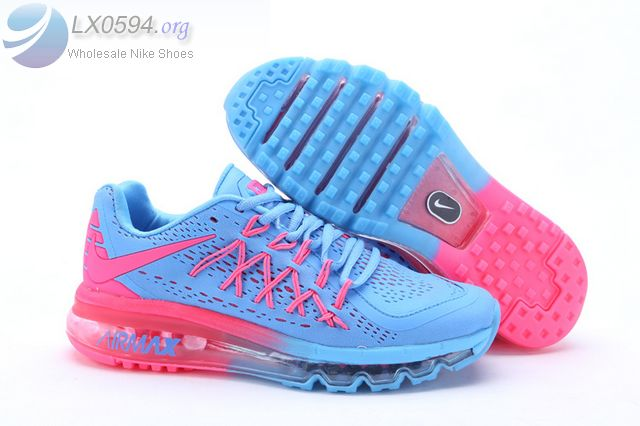 the latest 560bb 9876d Womens Nike Air Max 2015 Blue Pink Shoes