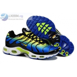 Mens Nike Air Max Plus TN Blue Black Volt