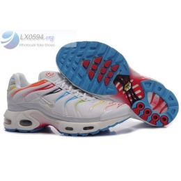 Nike Air Max Plus TN White Rainbow Mens Shoes