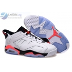 Air Jordan 6 Low White Infrared 23 Mens Sneakers