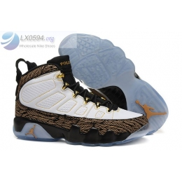 Air Jordan 9 DOERNBECHER DB White Gold Mens Sneakers