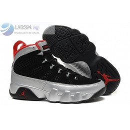 Air Jordan 9 Johnny Kilroy Black Silver Mens Sneakers