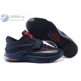 Nike KD 7 Denim Navy Blue Red Mens Sneakers