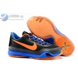 Nike Kobe 10 Black Blue Orange Mens Sneakers
