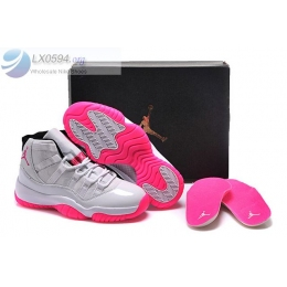 Air Jordan 11 White Pink Womens Sneakers