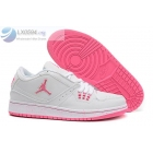 wholesale Womens Air Jordan 1 Flight Low White Pink Sneakers