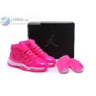 Air Jordan 11 Pink Womens Basketball Shoes