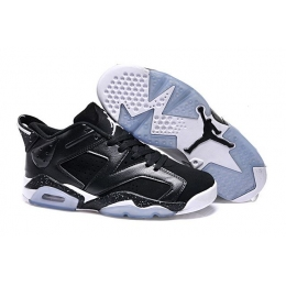 Air Jordan 6 Low GS Black White Womens Sneakers
