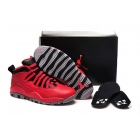 wholesale Air Jordan 10 Bulls Over Broadway Red Black Womens Shoes