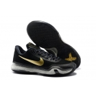 Nike Kobe 10 Black Gold Mens Basketball Shoes