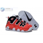 Womens Nike Air More Uptempo Red Black White Sneakers