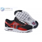 wholesale Nike Air Max Zero Black Red Mens Running Shoes