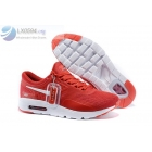 wholesale Womens Nike Air Max Zero Red White Shoes