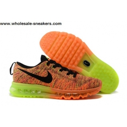 Nike Flyknit Max Orange Volt Mens Running Shoes