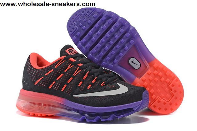 low priced c7174 0c9bc Womens Nike Air Max 2016 Black Red Purple Shoes