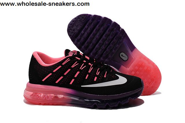 new photos 6ec4e f5bec Womens Nike Air Max 2016 Black Pink Trainer -11366 - Wholesale Sneakers