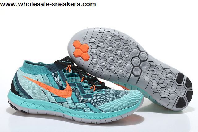 reputable site 9b116 c4158 Nike Free 3.0 Flyknit Teal Orange Mens Running Shoes