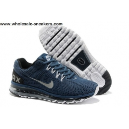 Mens Nike Air Max 2013 Dark Blue Running Shoes