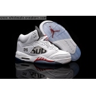 Air Jordan 5 SUPREME White METALLIC Mens Sneaker