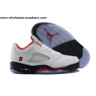 wholesale Air Jordan 5 Low White Fire Red Mens Sneaker