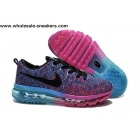 Womens Nike Flyknit Max Purple Blue Running Shoes