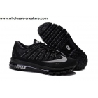 wholesale Nike Air Max 2016 All Black Mens Running Shoes