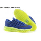 wholesale Nike Air Max 2016 Blue Volt Mens Running Shoes