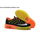 Womens Nike Air Max 2016 Black Orange Volt Shoes