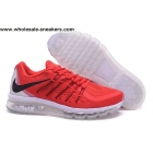 wholesale Nike Air Max 2015 Red White Mens Running Shoes