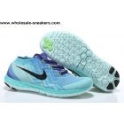 wholesale Womens Nike Free 3.0 Flyknit Blue Black Trainer