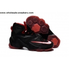 wholesale Nike LeBron 13 Black Red Mens Basketball Shoes