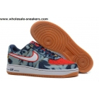 Nike Air Force 1 Denim Navy Red White Mens Shoes