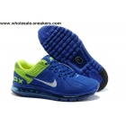 wholesale Nike Air Max 2013 Blue Green Running Shoes
