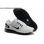 wholesale Nike Air Max 2013 Mens White Black Shoes