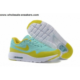 Kids Nike Air Max 1 Ultra Moire Jade Light Yellow Shoes