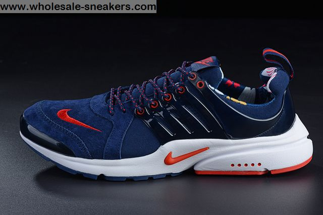 check out 67d41 858c4 Nike Air Presto Suede Blue Red Mens Running Shoes