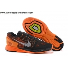 Nike Flyknit LunarGlide 7 Black Orange Mens Trainer