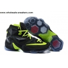 wholesale Nike LeBron 13 Black Volt Mens Basketball Shoes