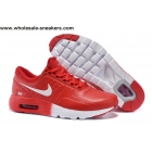 wholesale Nike Air Max Zero QS Leather Mens Red White Trainer